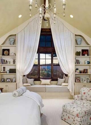 增加了一点点空间  10款卧室飘窗装修图1/10