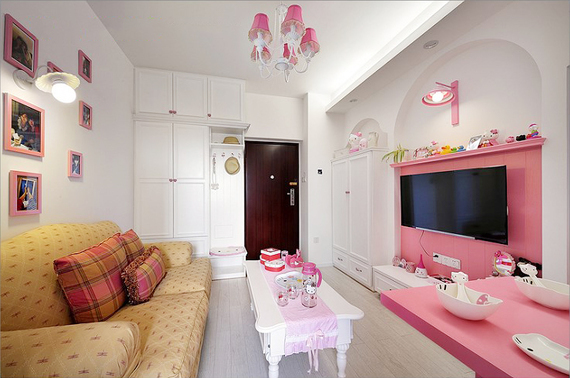 42平可爱公主房,这间kt猫小窝,真是粉嫩粉嫩的!