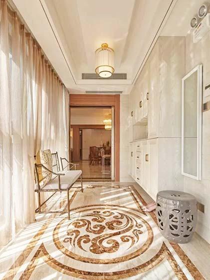 中式玄关设计装饰效果图