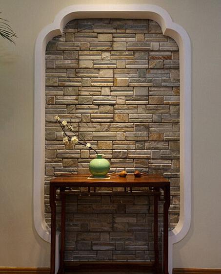 120平中式风格装修玄关柜图片