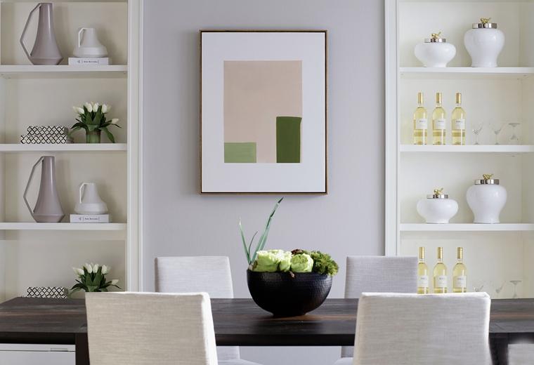 120平美式风格装修餐边柜设计图