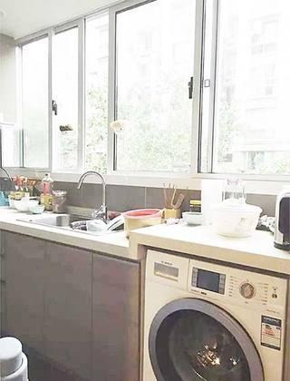 生活组合形式 10款厨房洗衣机摆放图片1/10