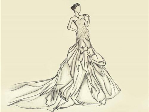 婚纱的画法要求 入门设计师服装画法技巧