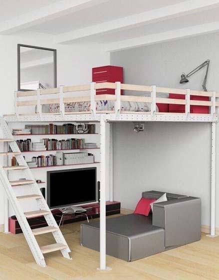 一居室卧室设计装修构造图