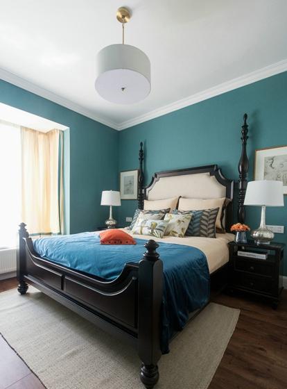 简美风格三室两厅装修主卧效果图
