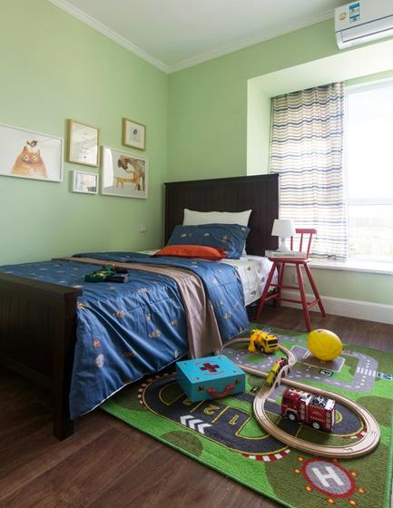简美风格三室两厅装修儿童房效果图