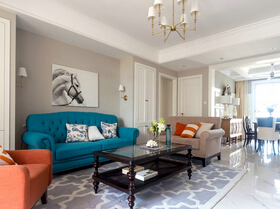简美风格三室两厅装修 不言而喻的美感