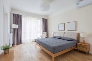 120平日式风格装修卧室窗帘图片