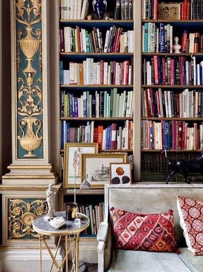书架背景墙设计装饰图