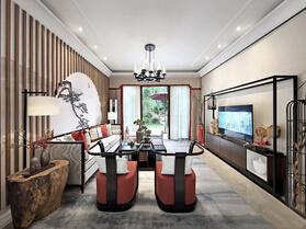 新中式风格四房装修 韵味独特