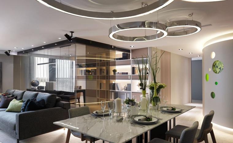 现代简约风格三居室装修餐厅效果图