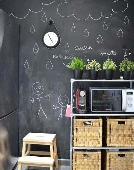 黑板背景墙设计平面图