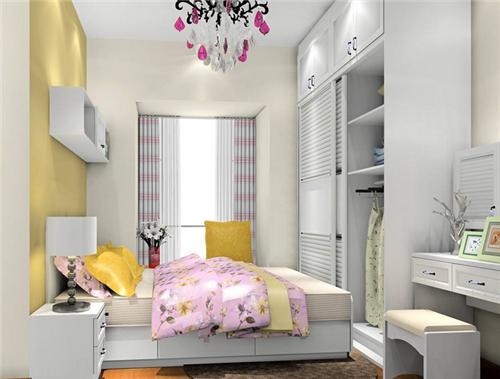 12平米卧室装修实例图 小户型卧室装修技巧图片