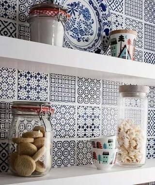 厨房花砖布置实景图