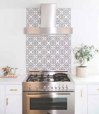 厨房花砖装修摆放图