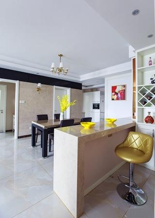 现代简约风格两居室装修吧台图片