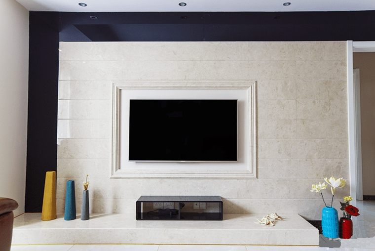 现代简约风格两居室装修电视背景墙图片