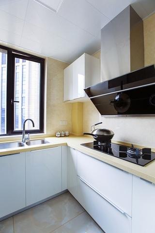 现代简约风格两居室装修厨房效果图