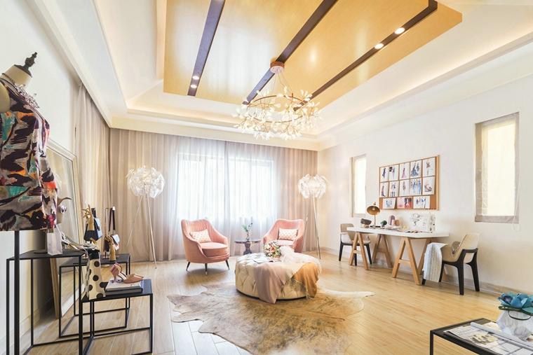 300平别墅样板间装修小客厅图片