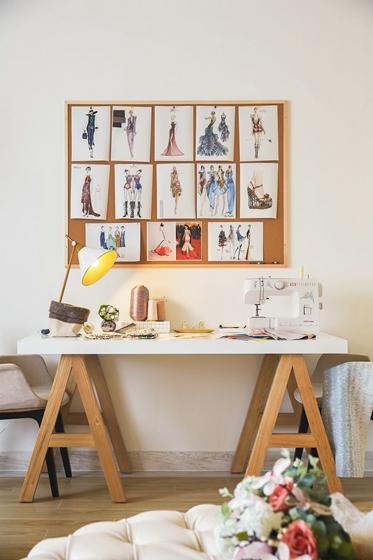 300平别墅样板间装修书桌图片