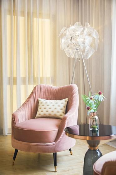 300平别墅样板间装修单人沙发图片