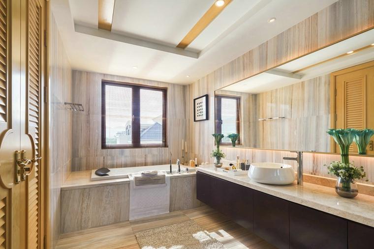 300平别墅样板间装修卫生间装潢图