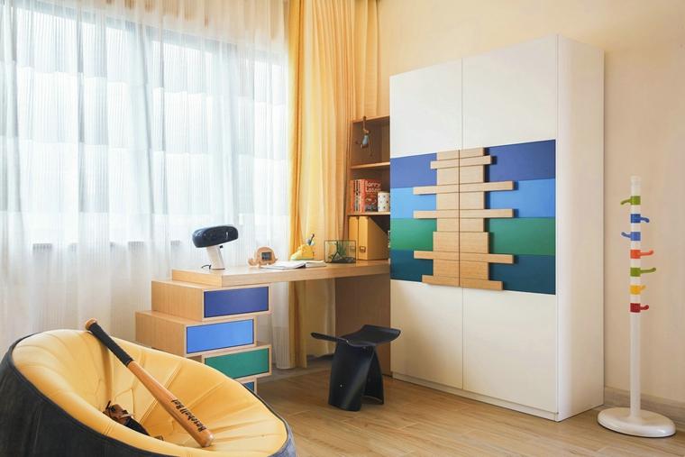 300平别墅样板间装修儿童房图片