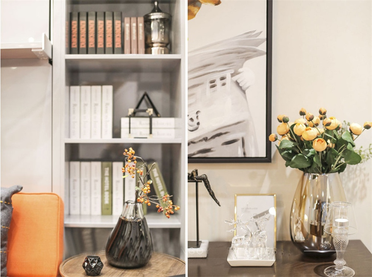 40平loft装修书柜图片