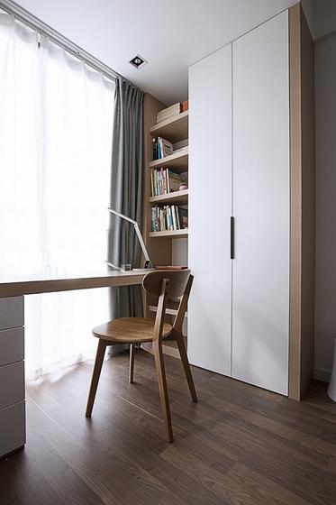现代简约风格三居室书房效果图