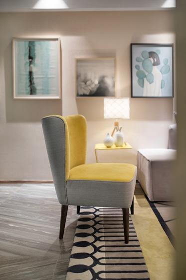 100平北欧风格装修效果图单人沙发图片