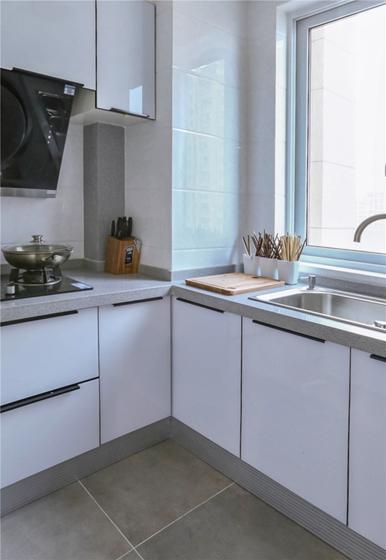 110平现代简约风格装修厨房效果图