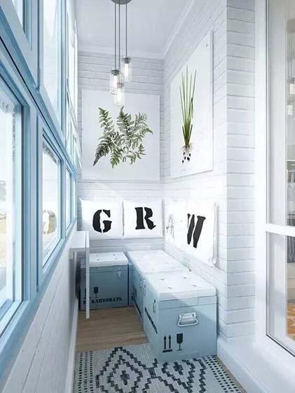 小户型阳台设计平面图