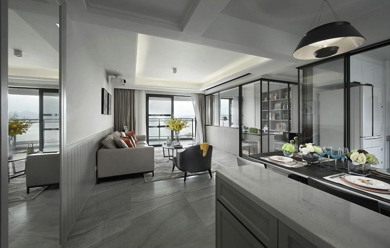 120平北欧风格装修客厅效果图