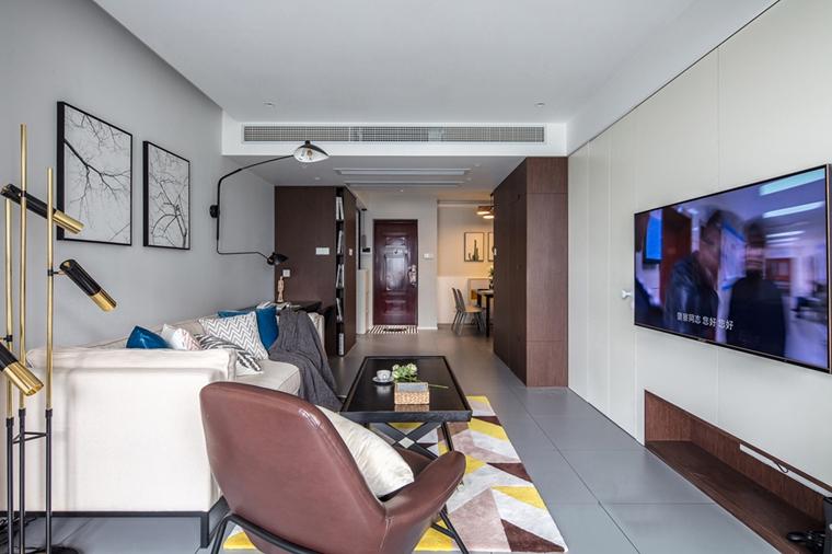 80平宜家风格装修客厅效果图