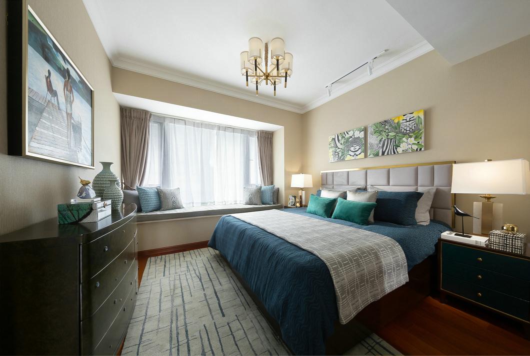 法式风格别墅装修样板间卧室效果图