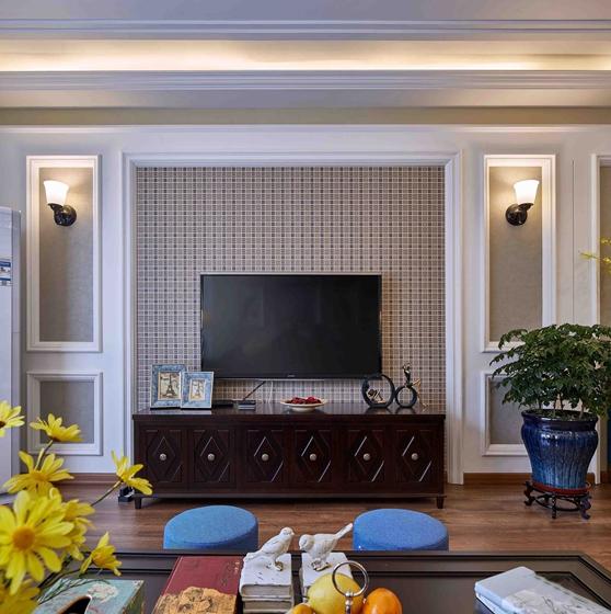 法式风格装修效果图电视背景墙图片