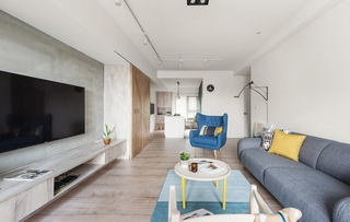 100平北欧风格装修效果图客厅效果图