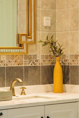 90平混搭风格两居室装修效果图浴室柜图片