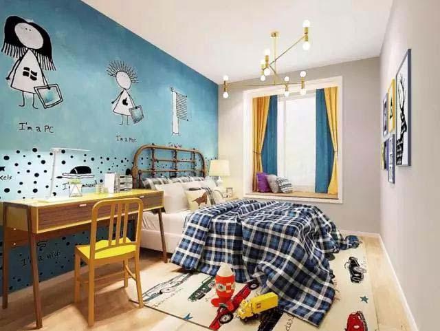 卧室书房装修构造图