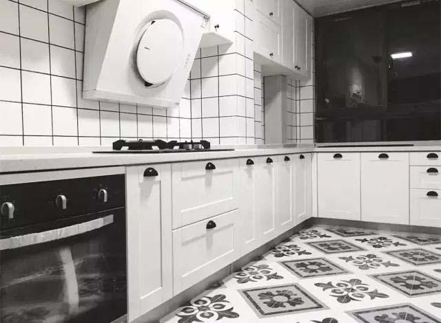 厨房地砖装饰构造图