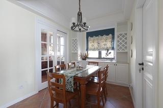 110平美式风格三居室餐厅吊灯图片