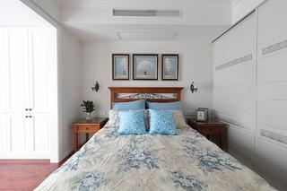 110平美式风格三居室小卧室装潢图