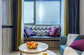 单身公寓现代简约风格装修飘窗图片