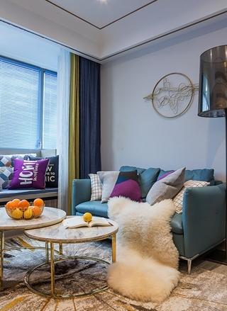 单身公寓现代简约风格装修布艺沙发