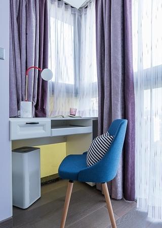 单身公寓现代简约风格装修工作台图片