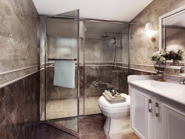 简欧风格小复式装修卫浴间图片