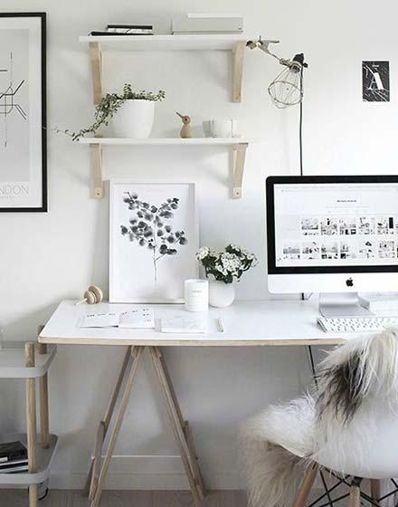 书桌植物摆放平面图