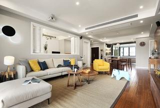 130平北欧风格装修客厅地毯