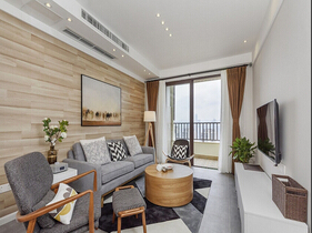 70平米简约风格装修 有格调的两居室