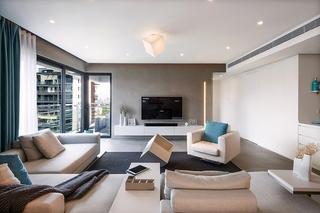 极简风格大户型装修大客厅效果图